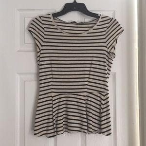 The Limited striped peplum top, size XS